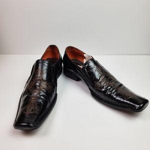 Robert Wayne Men's Rome Loafers Black Tan Size 12